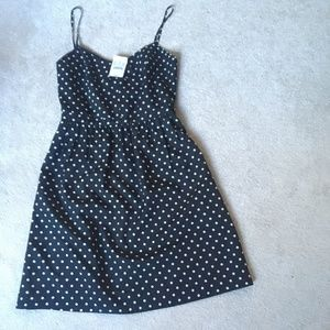 NWT J.Crew, Black and White  Pok-A-Dot Dress Sz 00